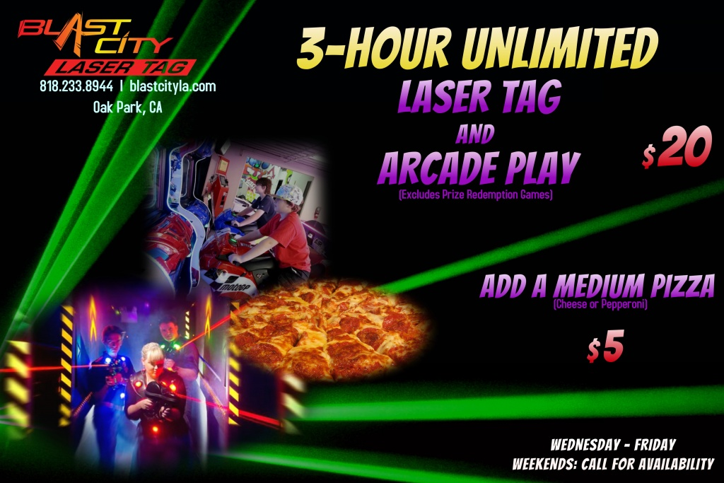Blast City Laser Tag unlimited Play