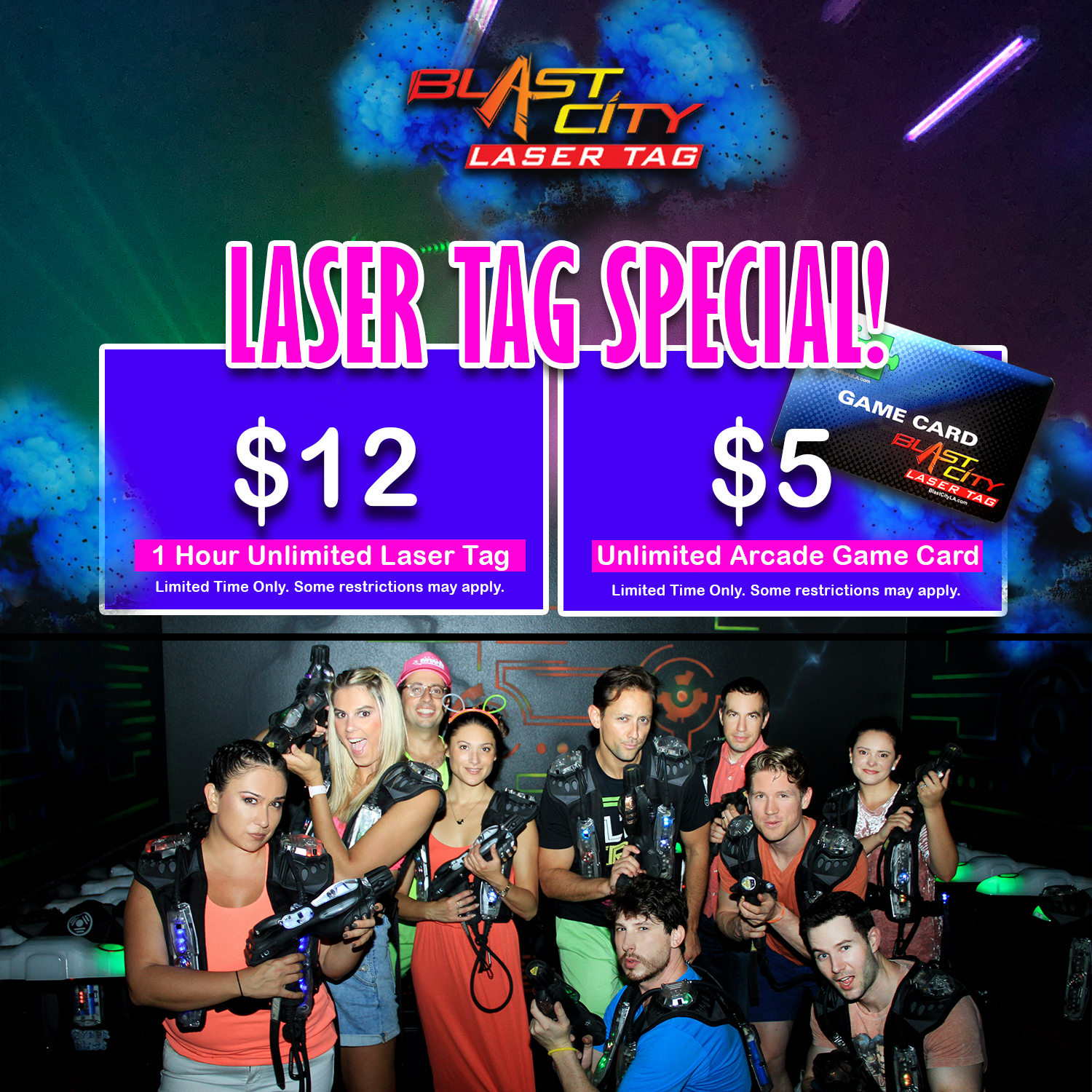 Los Angeles Laser Tag Game For Birthday Party Events