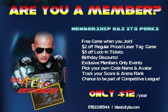 laser tag membership Los Angeles