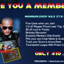 Membership Blast City Laser Tag